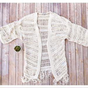 AEO Cardigan Sweater Crochet